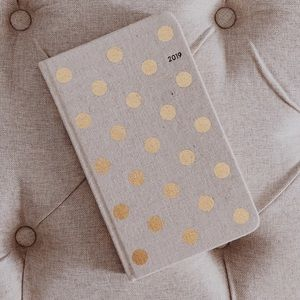 New Kate Spade 2019 Polka Dot Canvas Planner